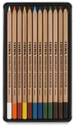 Oil-Based Colored Pencils, Set of 12