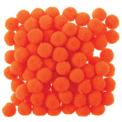 Creativity Street Pom Pons - 1/2'', Orange, Pkg of 100