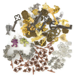 Assorted Charms, 100 Pieces