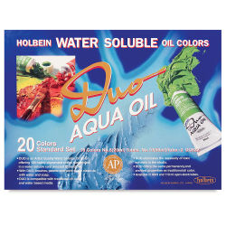 Holbein Duo Aqua Water Soluble Oils - Color and Quick Drying Mediums, Set of 20 Colors, 20 ml tubes
