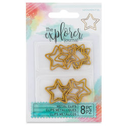 Momenta The Explorer Journal Clips - Gold Stars, Pkg of 8