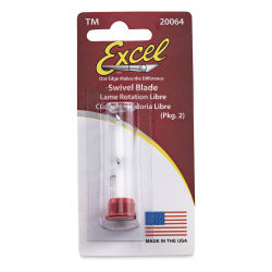 Excel Blades Swivel Blade - #64, Safety Tube Package, 2 Blades