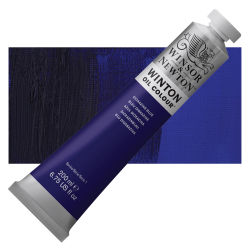 Winsor & Newton Winton Oil Color - Dioxazine Blue, 200 ml, Tube with Swatch