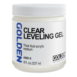 Golden Acrylic Medium - Self-Leveling Clear Gel, 8 oz jar