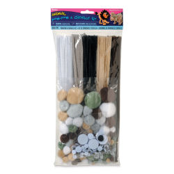Darice Pom Pom and Chenille Craft Kit - Solid