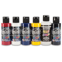 Createx Wicked Colors Airbrush Color - 2 oz, Set of 6, Detail Sampler