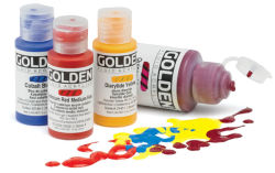 Golden Fluid Acrylic Paint and Sets, assorted colors, 1 oz