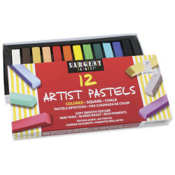 Sargent Art Square Chalk Pastels - Assorted Colors, Set of 12