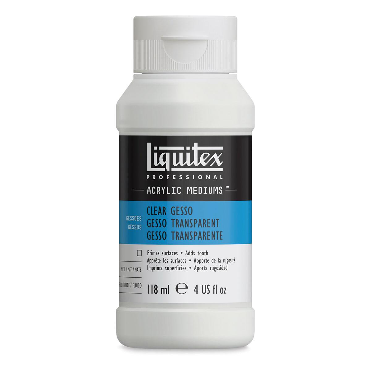 Liquitex Acryic Medium - Clear Gesso, 4 oz bottle