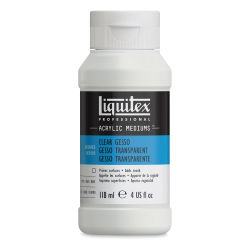 Liquitex Acrylic Gesso-Clear 4oz Bottle. Front of bottle.