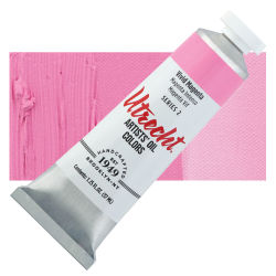Utrecht Artists' Oil Paint - Vivid Magenta, 37 ml, Tube with Swatch