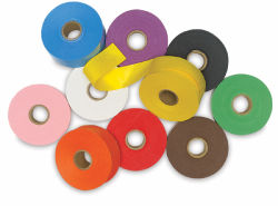 Gummed Artape Set - 1-1/2'' x 250 ft, Assorted Colors, Set of 10