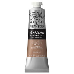 Winsor & Newton Artisan Water Mixable Oil Color - Burnt Umber, 37 ml tube
