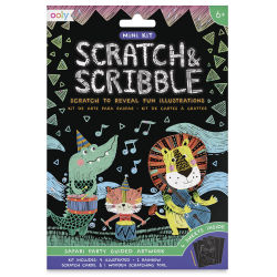 Ooly Scratch and Scribble Mini Scratch Art Kit - Safari Party