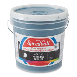 Speedball Permanent Acrylic Screen Printing Ink - Dark Blue, Gallon