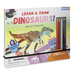Spicebox Imagine It Dinosaurs Stencil and Color Kit