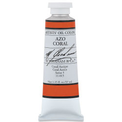 M. Graham Artists' Oil Color - Azo Coral, 37 ml tube