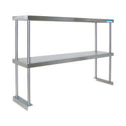 Diversified Woodcrafts Stainless Steel Shelf - Double Shelf, 36'' L x 12'' W, for use with steel table