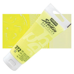 Pebeo High Viscosity Acrylics - Fluorescent Yellow, 100 ml tube
