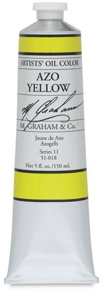 M. Graham Artists' Oil Color - Azo Yellow, 148 ml tube