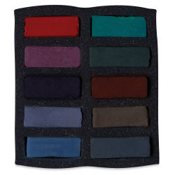 Art Spectrum Extra Soft Square Pastels - Darks, Set of 10