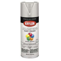 Krylon Colormaxx Spray Paint - Satin Nickel, Metallic, 11 oz