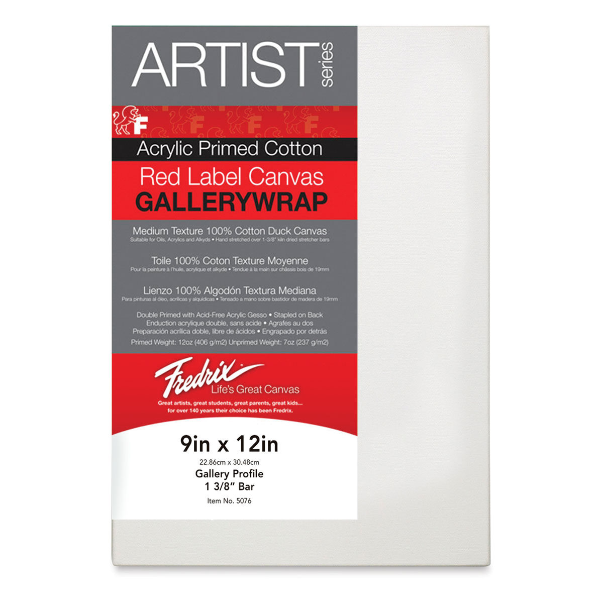 18 x 24 in Fredrix Gallerywrap Stretched Canvas