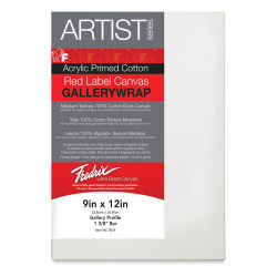 Fredrix Profile Cotton Canvas - 9'' x 12'', Gallerywrap