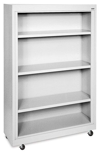 Sandusky Lee Mobile Bookcase - 36 x 58 x 18, Dove Gray