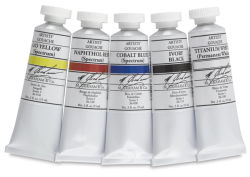 M. Graham Artists' Gouache - Basic Set, Set of 5 colors, 15 ml tubes