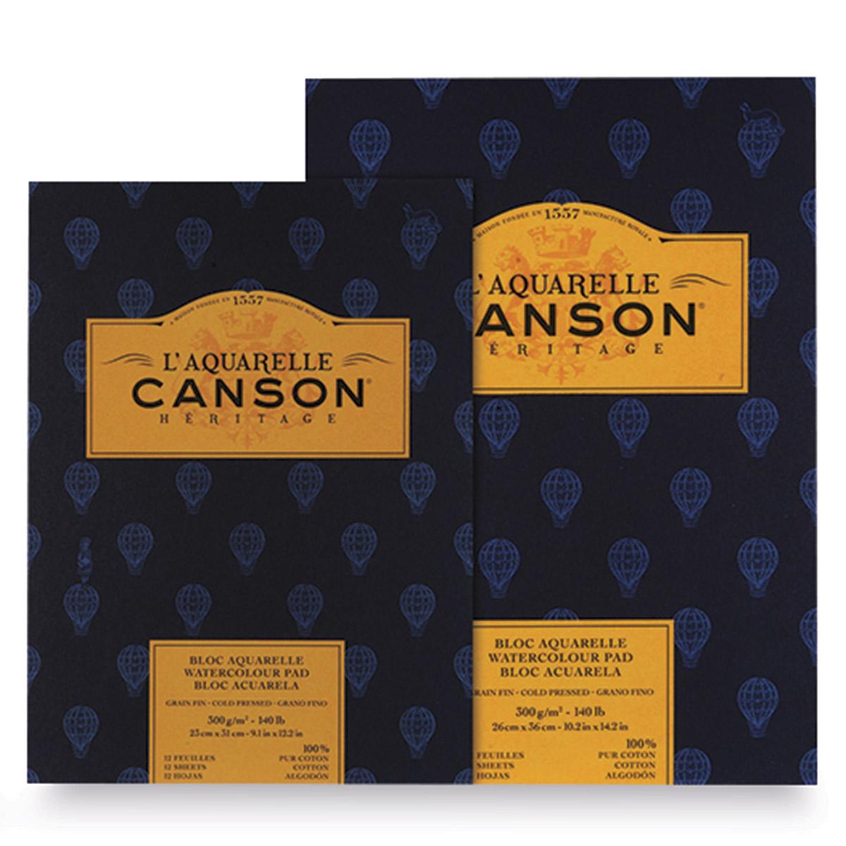Canson L/'Aquarelle Heritage pads watercolour paper 300gsm 140lb Hot cold press