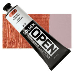 Golden Open Acrylics - Iridescent Copper (Fine), 5 oz, Tube with Swatch