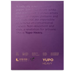 Legion Yupo Heavyweight Watercolor Paper Pad - 9'' x 12'', 10 Sheets
