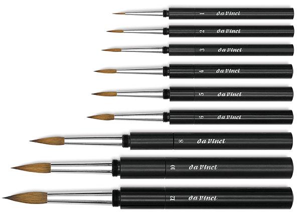 Da Vinci Maestro Kolinsky Sable Series 10 Rounds Artists Watercolour Brush.