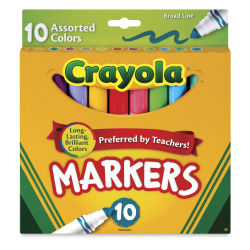 Crayola Classic Original Marker Set - Assorted Colors, Broad Tip, Set of 10