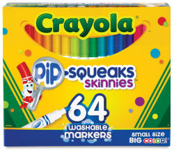 Pip-Squeaks Skinnies Washable Markers, Set of 64 Colors