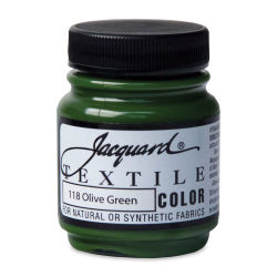 Jacquard Textile Color - Olive Green, 2.25 oz jar