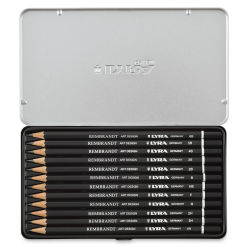 Lyra Rembrandt Art Design Graphite Pencil Set - Tin Box, Set of 12