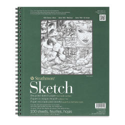 Strathmore 400 Series Recycled Paper Sketch Pad - 14'' x 11'', Portrait, 100 Sheets