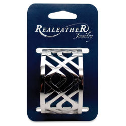 Realeather Filigree Bracelet - Chrome Catinia, 1-1/2'' Wide