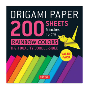 Origami Paper Rainbow Colors