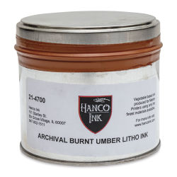 Hanco Standard Palette Litho Ink - 1 lb, Burnt Umber