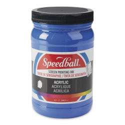 Speedball Permanent Acrylic Screen Printing Poster Ink - Ultra Blue, Quart