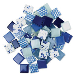 Mosaic Mercantile Patchwork Tiles - Royal/Ocean Blue, 1 lb