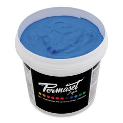 Permaset Aqua Fabric Ink - Supercover Light Blue, Liter