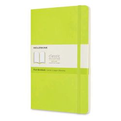 "Moleskine Classic Soft Cover Notebook - Light Green, Blank, 8-1/4"" x 5"""