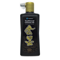 Yasutomo Metallic Gold Black Ink - 180 ml
