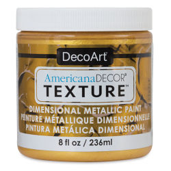 DecoArt American Decor Texture Paint - Bright Gold Metallic, 8 oz