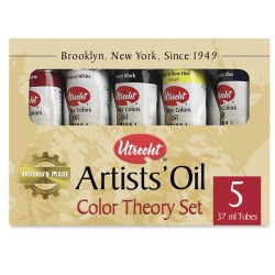 Utrecht Artists' Oil Paint Set - Color Theory Kit, Set of 5 colors, 37 ml tubes