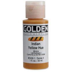 Golden Fluid Acrylics - Indian Yellow Historical Hue, 1 oz bottle